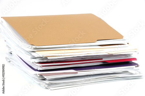 Fotografie, Obraz  stacking documents and folders