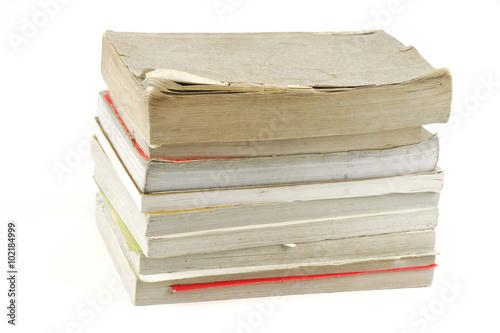 Printed kitchen splashbacks Newspapers stacking old books