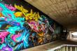 canvas print picture - Graffiti: Unter der Brücke...