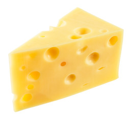 Fototapeta Piece of cheese isolated. With clipping path.
