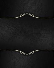 Black Velvet Frame With Gold. ...