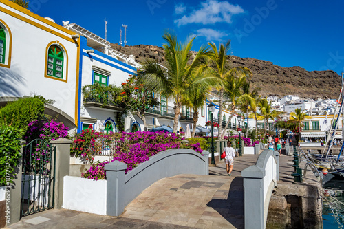 Spoed Foto op Canvas Canarische Eilanden Puerto de Mogan, a beautiful, romantic town on Gran Canaria, Spain