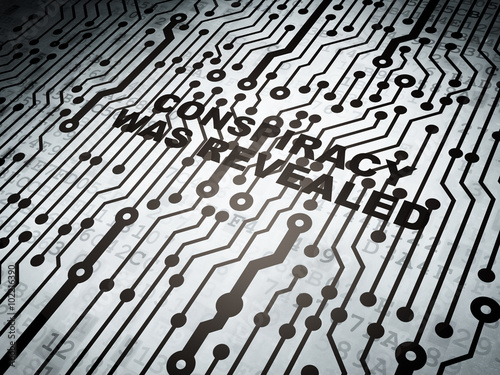 Fotografie, Obraz  Political concept: circuit board with Conspiracy Was Revealed