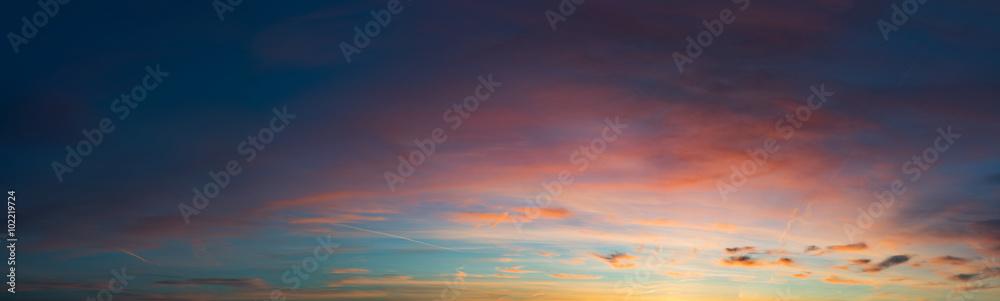 Fototapeta sunset sky panorama