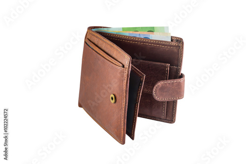 Fotografía  men's leather wallet isolated on white background
