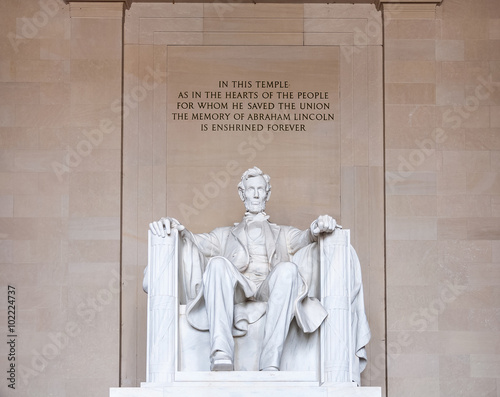 Fotografia  Abraham Lincoln monument in Washington, DC
