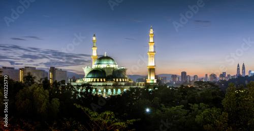 Photo  KUALA LUMPUR, MALAYSIA - 14TH APRIL 2014; The Federal Territory Mosque is one of the major mosque in Kuala Lumpur, Malaysia