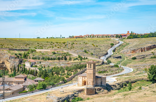 Photo  Church of Vera Cruz. Segovia, Spain. Templar building .