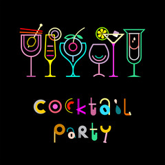 FototapetaCocktail Party Poster