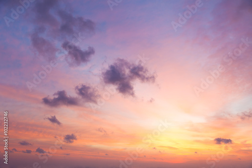 Poster Ochtendgloren Gentle Colors of Sunrise Sky