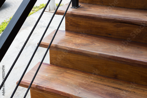 Foto op Canvas Trappen wooden staircase