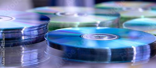 Obraz Blue cd stack - fototapety do salonu