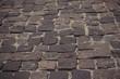 old cobblestone on the avenue
