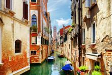 View Of The Rio Di San Cassiano Canal In Venice, Italy