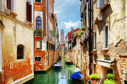 La pose en embrasure Venise View of the Rio di San Cassiano Canal in Venice, Italy