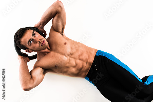 Fotografie, Obraz  Weighted Crunch Exercise