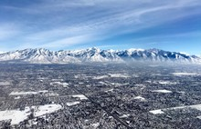 Salt Lake City And Mountains