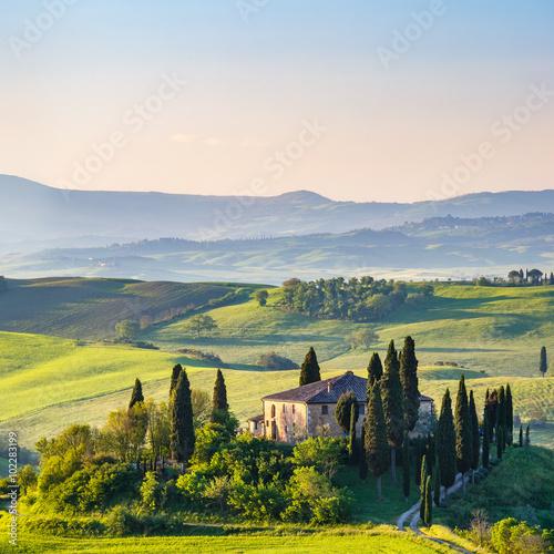 Foto op Plexiglas Toscane Beautiful landscape in Tuscany, Italy
