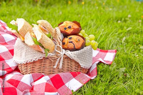 Plakat Letni kosz piknikowy