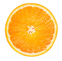 Orange Slice Isolated On White...