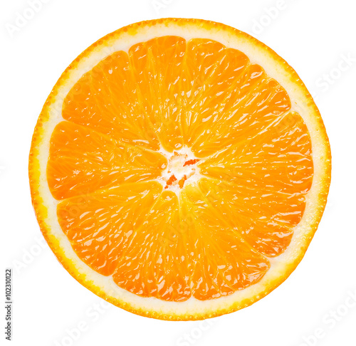 Cuadros en Lienzo  orange slice isolated on white background