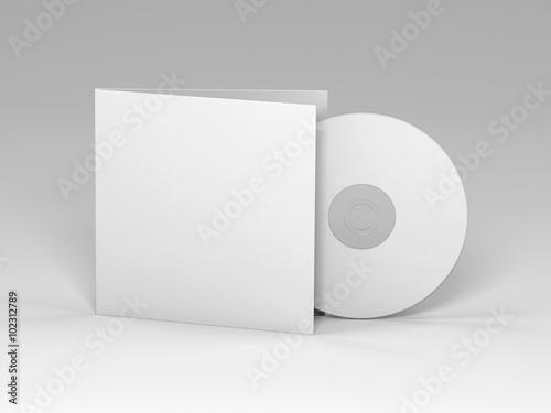 Obraz Blank cd 3d render (mockup design) - fototapety do salonu