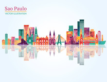 Sao Paulo Skyline. Vector Illu...