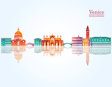 Venice Detailed Skyline. Vecto...