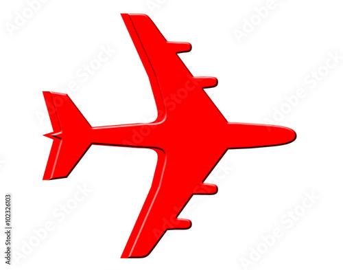 Fotografie, Obraz  Plane on white background.