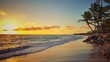 Sunrise over tropical island