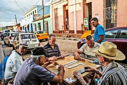 Photo  Cuba, Trinidad, Domino Players