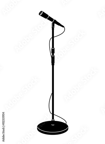 Microphone With Stand Drawing
