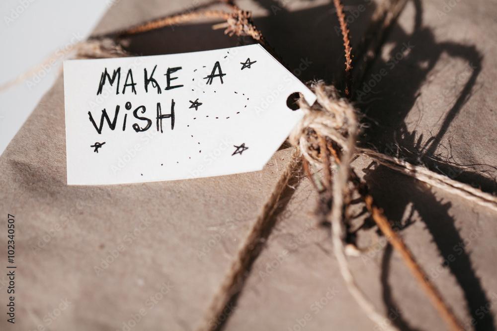 Fototapety, obrazy: Inspirational motivational quote. Make a wish