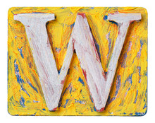 Wooden Alphabet Letter W