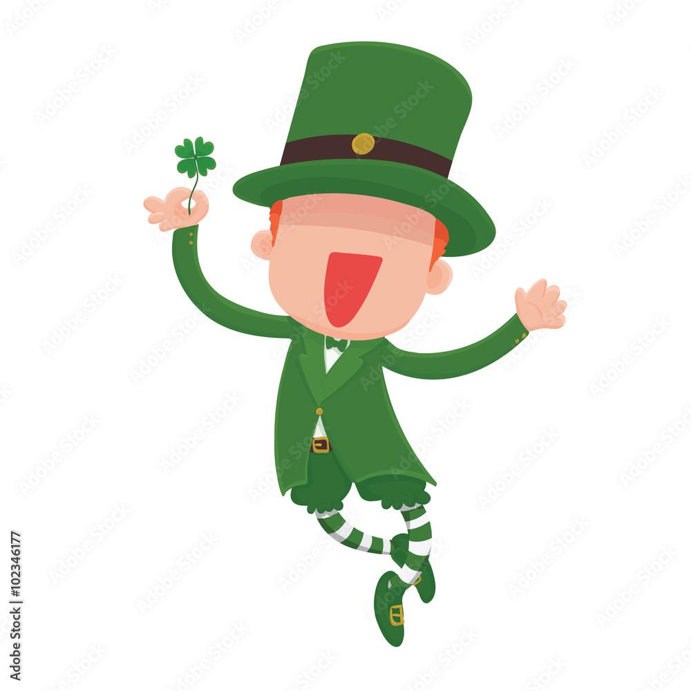 Fotografie Obraz Vector Illustration of a jumping smiling cartoon