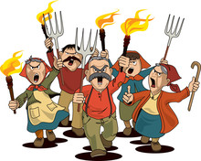 Angry Villagers On The March