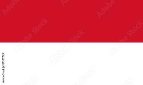 Cuadros en Lienzo  Flag of Indonesia