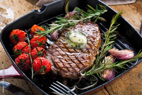 Photo  Steak Pfanne