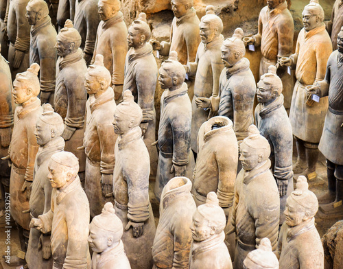 Deurstickers Xian View of the Terracotta Warriors, Xi'an, Shaanxi Province, China