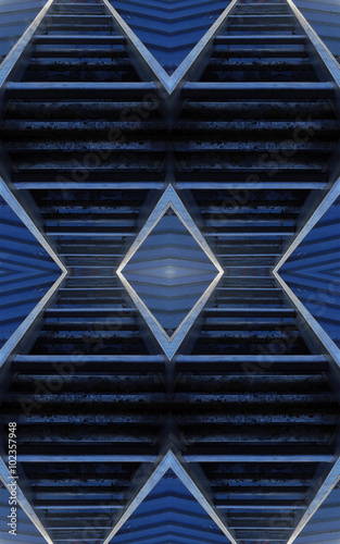Poster Voies ferrées Abstract blue technology background