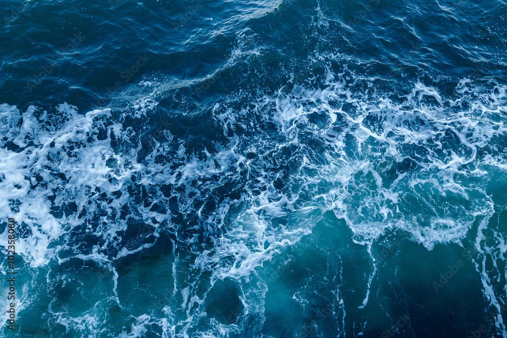 Blue Sea Texture With Waves And Foam Wall Mural Wallpaper Murals Ivan Kurmyshov