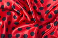 Black And Red Polka Dot Satin ...