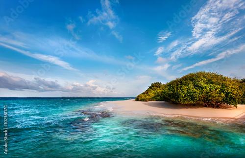Photo Deserted Maldivian Island