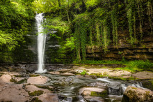 Waterfall In Brecon Beacons, W...