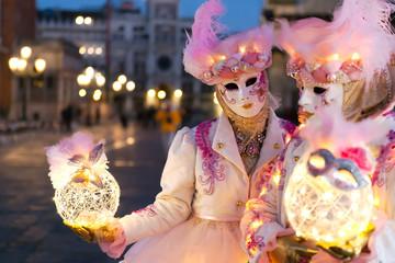 Lights in Venice - beautiful masks