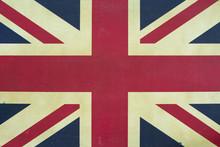 British Flag Texture, Grunge U...