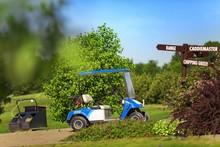 Club Car At The Golf Course