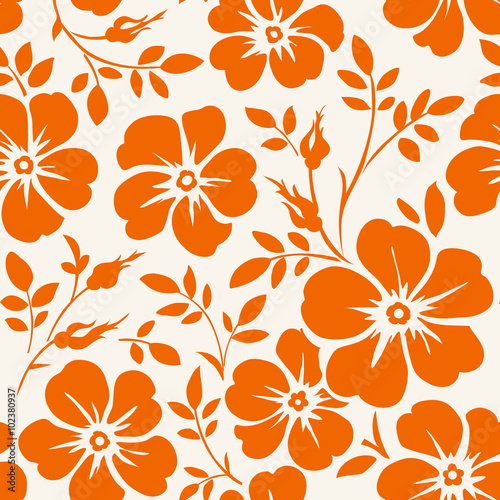 Tapeta ścienna na wymiar Seamless floral pattern
