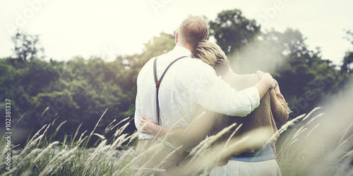 Fotografie, Obraz  Couple Wife Husband Dating Relaxation Love Concept