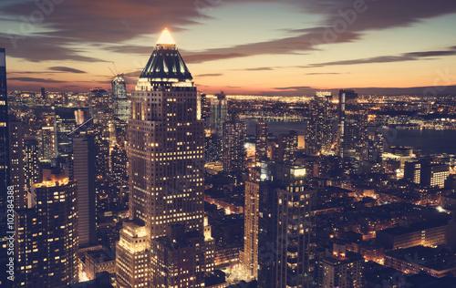 Keuken foto achterwand New York New York City skyline at night